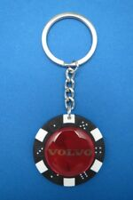 VOLVO LOGO POKER CHIP DICE KEYRING KEY RING CHAIN #050