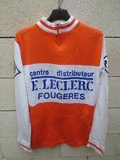 Maillot cycliste R.O.F FOUGERES Leclerc NORET 70's shirt jersey manches longues