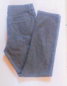 GAP Men's Dark Gray Rinse Denim Slim Straight Jeans Size 31/30 100% Cotton EUC