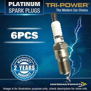6 x Tri-Power Platinum Spark Plugs for Ford Courier PH Explorer UX UZ Mustang SN