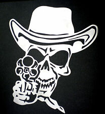 high detail airbrush stencil cowboy skull five   FREE UK POSTAGE