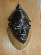 FINE CARVED WOOD AFRICAN  FANG MASK OR FRONTLET