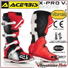 ACERBIS X-PRO V. STIEFEL SCHWARZ/ROT VIBRAM OFF-ROAD MOTO CROSS QUAD ENDURO 43