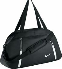 Nike Auralux Solid Club Duffle Travel Sports GYM BAG BA5208 010 Black Womens