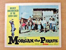 MORGAN THE PIRATE Original SWASHBUCKLER Lobby Card STEVE REEVES VALERIE LAGRANGE