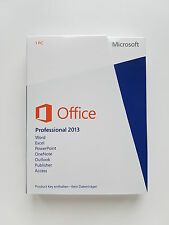 MS Office 2013 Professional Pro versione completa tedesco Medialess PKC 269-16149 NUOVO
