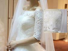 """Ricamati da Sposa Pizzo Nastro 9.7"""" bianco sporco FLOREALE CON FILO BORDATURA Matrimonio"""