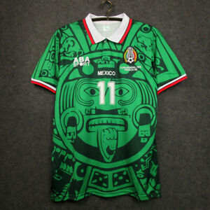 1998 Mexico Home Retro Soccer Jersey #11 Blanco