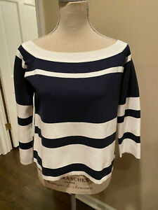 J.CREW off the shoulder striped knit navy/white sweater - Sz S - NWT - $89.50
