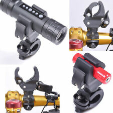 90° Black Rotating Bike Handlebar Mount Clamp Clip Holder for Flashlight Torch
