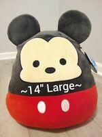 "New Large 14"" Disney Mickey Mouse Squishmallow Soft Plush Gift Kellytoy Rare"