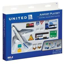 Daron United Airlines Airport Playset Toy Game Kids Play Gift Die-Cast Metal Of