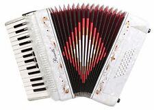 Rossetti, 3032, Piano Accordion 32 Bass, 30 Key, 3 Switch, Case & Straps WHITE