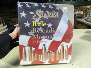 T-Vintage Sierra Rifle Reloading Manual 3rd edition   NEW WRAPPED