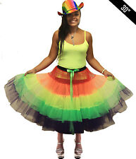 Adult Ladies Crazy Chick Gay Pride Rainbow Clown Do Hen Party TuTu Skirt