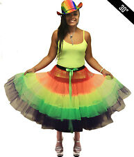 Adulto Donna Crazy Chick Gay Pride Rainbow Clown fare Nubilato Gonna Tutu