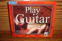 Learn To Play Guitar Essentials : PC CD-ROM Microsoft Software New-Sealed