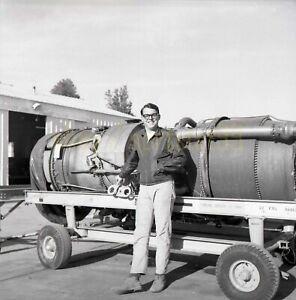1960-70s Jet Car Engine - NHRA Dragster - Vintage Drag Racing Negative