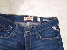 REPLAY Damen Jeans Hose ROCKXANNE WV 521D Stretch darkblue