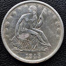 1843 O Seated Liberty Half Dollar 50c Better Grade AU Details #16704