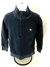 Old Navy 3T boys long sleeve pullover 1/2 zip front stand up collar  navy blue