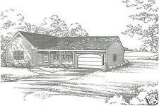 2 Bdrm 1 1/2 Bath 1440 SF / 2 Car Garage Ranch Style House Design Building Plans