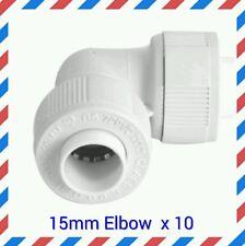 10 pack 15mm Elbow Plumbing Pushfit / Hep20 speedfit compatible  fittings