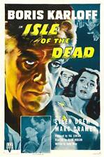 ISLE OF THE DEAD Movie POSTER 27x40 C Boris Karloff Ellen Drew Marc Cramer Jason