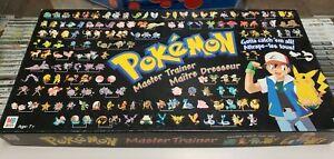 Pokemon Master Trainer Board Game- 1999-  Hasbro - 100% Complete Bilingual.