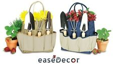Picnic Time LARGE GARDEN TOTE - Three Metal Gardening Tools With Wooden Handle