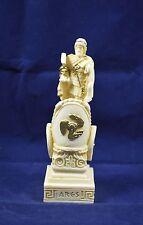Ares sculpture on chariot ancient Greek God of war statue alabaster artifact