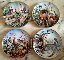 n. 4 Piatti in porcellana Danbury Mint Quattro Stagioni Four Seasons of Robins