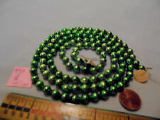 "Christmas Garland Mercury Glass Green 41"" Long 5/16"" Beads 9718 Vintage"