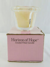 "New 2001 Longaberger Horizon Of Hope ""Hope's Garden"" Crystal Filled Candle"