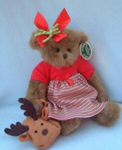 The Bearington Collection - Reagan Reindeer - Christmas teddy bear 173141 + tags