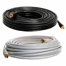 RG59 Coaxial Cable Gold Plated Digital Satellite AV TV VCR Video 50ft Length