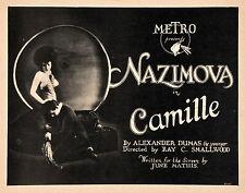 Camille - 1921 - Rudolph Valentino Alla Nazimova - Vintage b/w Silent Film DVD