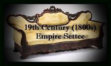 19th Century (1800s) Empire Settee, Sofa, couch, in Velvet