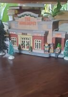 Home Depot Christmas Village Store House Building 2013 Limited Porcelain working