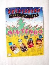 Broderbund Original Promo Poster NES NINTENDO