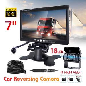 "Caméra de recul de voiture 4 Pin 12V / 24V + 7"" HD bus de camion de moniteur LCD"