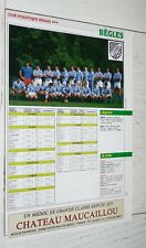 CLIPPING POSTER RUGBY XV 1988-1989 CA BEGLES / US BERGERAC