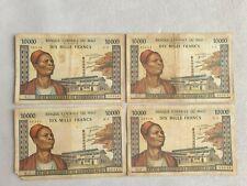 10000 francs 1970 - 1984 Mali lot banknotes