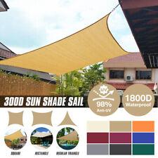 Sun Shade Sail Garden Patio Sunscreen Awning Canopy Screen 98% UV Block Outdoor