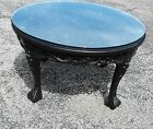 """Chinese  Round 30"""" Glass-top , Carved Dragon Table"""