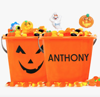 Personalized Halloween Pumpkin Candy Bucket