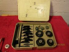 Vintage Necchi Sewing Machine Attachment Lot Case Sew Needles Arms Disks