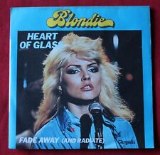 Blondie, heart of glass / fade away, SP - 45 tours  France