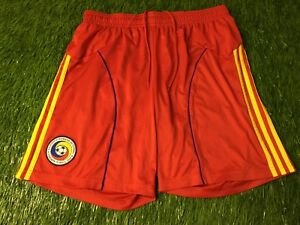 ROMANIA NATIONAL TEAM 2010/2012 FOOTBALL SHORTS HOME ADIDAS ORIGINAL SIZE XL