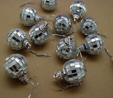 "LOT of 18 Mirror Ball Ornaments 1-1/8"" Miniature Disco Ball with Cord ~ Sparkle"